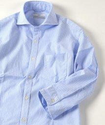 SHIPS MEN/SC: ペルヴィアン ピマ セミワイドカラー 7スリーブシャツ/500340624