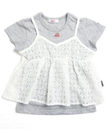 ALGY/Tシャツ&レースキャミセット/500310917