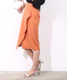 ROPE' mademoiselle/アシンメトリーフロントドレープスカート/500336574