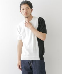 URBAN RESEARCH/【WAREHOUSE】綿麻バイカラー半袖ニット/500336673