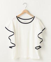 coen/フリルスリーブパイピングTシャツ/500340810