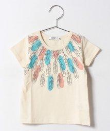 KOE/フェザープリント半袖Tシャツ/500337554
