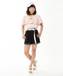 Lovetoxic/ベルトつき裾ロゴ刺しゅうショートパンツ/500338998