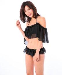 VacaSta Swimwear/【REYES REYES】シフォンオフショルダービキニ/500331475