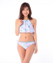 VacaSta Swimwear/【REYES REYES】トロピカル柄ビブホルダーTバックショーツセット/500331479