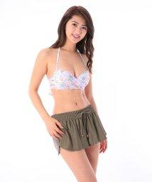 VacaSta Swimwear/【REYES REYES】ハイビスカスプリントクロスビキニパンツセット/500331941