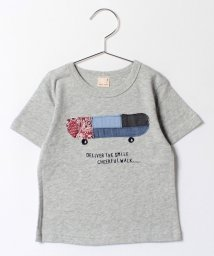 petit main/パッチワークボード柄Tシャツ/500338860