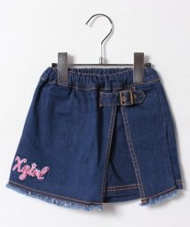 X-girl Stages/ストレッチデニム ラップスカート/500339025