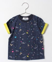 X-girl Stages/スペース 総柄半袖Tシャツ/500339029