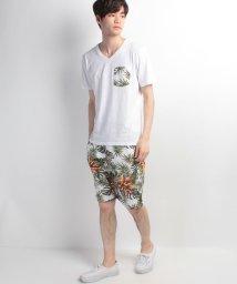 JNSJNM/【LOCK HEAVEN】Tシャツ+ボタニカルショーツセットアップ/500334880