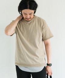 URBAN RESEARCH DOORS/Jacquard Ring Crew-Neck T-Shirts/500347947