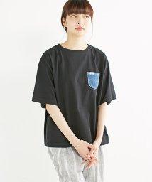 haco!/haco!別注 Lee デニムポケットゆるTシャツ/500343046