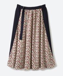 haco!/大人っぽく柄を楽しめる 花柄&カラーコンビのフレアースカート/500343156