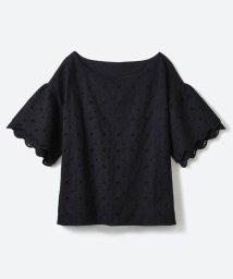 haco!/Tシャツ感覚で着られる フラワーレースのティアードスリーブトップス/500343159