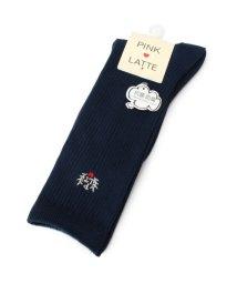 PINK-latte/エンブレム刺繍ハイソックス/500349741