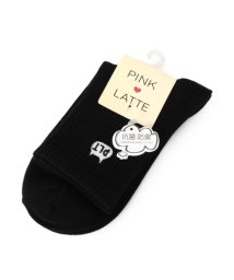 PINK-latte/リブワンポイントキャットソックス/500349743