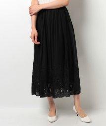 STRAWBERRY FIELDS/透かし柄刺繍スカート/500302415