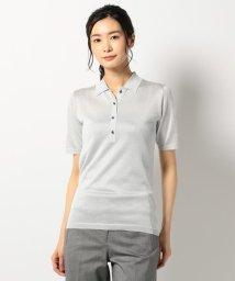 ICB(LARGE SIZE)/【洗える】Lurex Yarn ポロシャツニット/500352159
