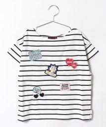 Lovetoxic/ランダムワッペンボーダー柄Tシャツ/500346476