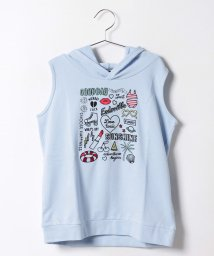 Lovetoxic/イラスト刺繍ノースリパーカー/500346477