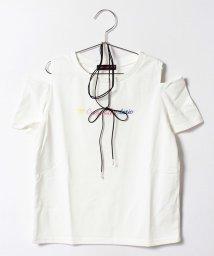 Lovetoxic/チョーカーつきロゴ刺しゅう入り肩開きTシャツ/500346485