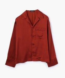 MACPHEE/ブライトサテン オープンカラーシャツ/500353149