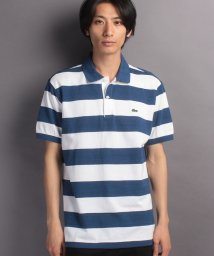 LACOSTE Mens/ボーダーポロシャツ (半袖)/500344437