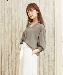 INGNI/7分袖裾タックトロミスキッパー/シャツ/500349583
