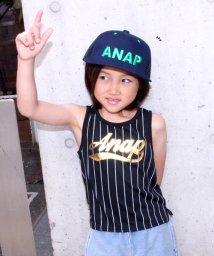 ANAP KIDS/ストライプロゴナンバータンクトップ/500350199