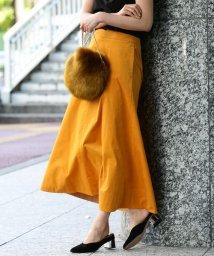 ROPE' mademoiselle/《予約》ストレッチマキシフレアスカート/500356344
