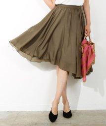 ROPE' mademoiselle/★サイドアシンメトリーギャザースカート/500352436