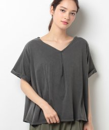 AZUL by moussy/両VネックヘムフレアTOPS/500337412