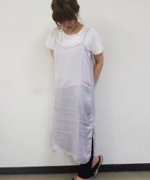 NICE CLAUP OUTLET/サテンキャミワンピース+TシャツSET/500345387