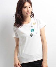 ELLE/刺繍モチーフTシャツ/500347428