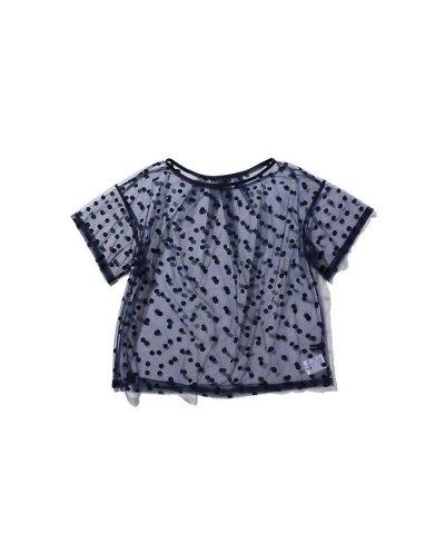 【ROSE BUD(ローズバッド)】ドット柄シアーTシャツ