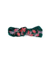 ROSE BUD/刺繍モチーフベロアターバン/500360384