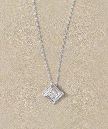TAKE-UP/スクエアパターンダイヤモンドネックレス(WG)/500319651