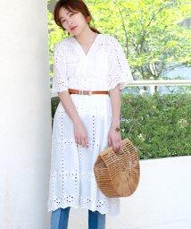 Bou Jeloud/【WEB限定】パンチングレースロング刺繍ワンピース/500361675