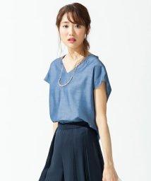 JIYU-KU /【洗える】シャルマンダンガリーツイル ブラウス/500362397