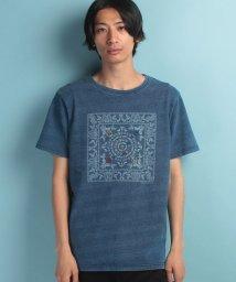 KRIFF MAYER/バンダナ+刺繍インディゴT/500350541