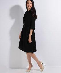 BLACK GALLERY/シャツ風ベルト付きサマーフォーマルワンピース/500358546