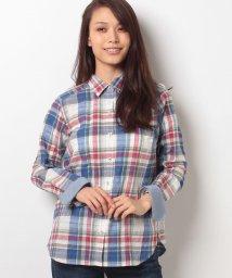 CARA O CRUZ/綿麻チェックシャツ/10255216N