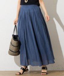 NIJYUSANKU/【洗える!】ボタニカルダイシフォンクレープ スカート/500370399