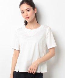 Leilian/刺繍カットソー/10255317N