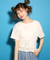 NICE CLAUP OUTLET/【one after another】コルセット付Tシャツ/500356336