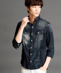 NICOLE CLUB FOR MEN/7分袖切り替えデザインシャツ/500345671