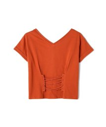 PROPORTION BODY DRESSING/《BLANCHIC》レースアップTシャツ/500375054