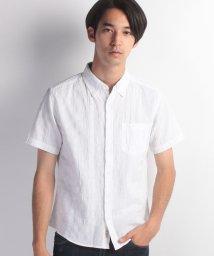 JNSJNM/【FORT POINT】綿麻パナマボーダーシャツ/500355292