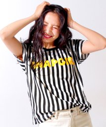 ANAP GiRL/ロゴストライプTシャツ+キャミソール SET/500369404