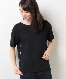 CARA O CRUZ/碇柄ボタン無地Tシャツ/10255544N